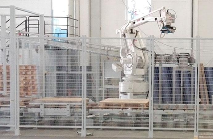 Celda de paletizado robotizada